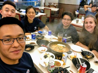 Dinner after Qualifying on Saturday - Our team