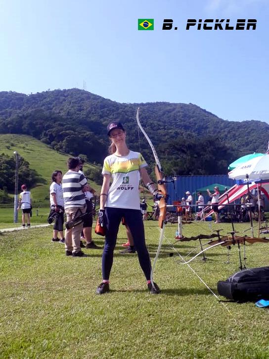 Bruna Pickler (BRA) Santa Catarina Archery Outdoor 30 meters Recurve Bow 1st Leg 2020